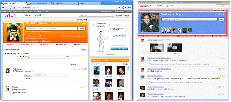 orkut copy facebook and twitter